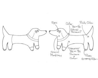 Custom Dachshund Earrings Custom Dog Earrings Handmade Ceramic By Sean Brown