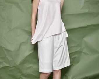 White Cotton Pants - Summer Pants - Casual Pants - Women Culottes - Free Shipping