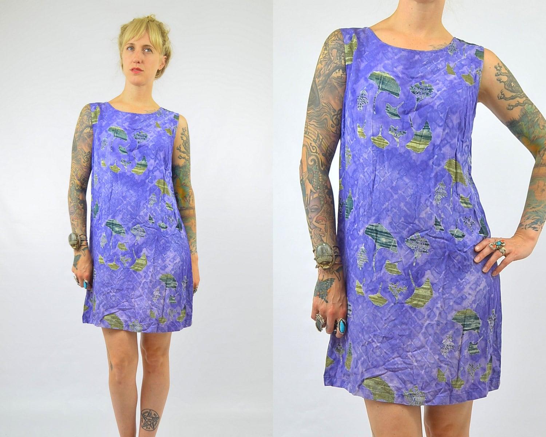 vintage batik blue tie dye tropical dress by. Black Bedroom Furniture Sets. Home Design Ideas