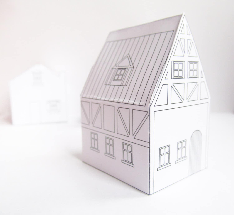 Maisons de papier mod les t l charger pr t imprimer - Maison en papier a imprimer ...