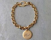 2X Monogrammed charm bracelets