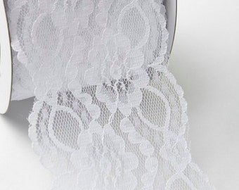 3 Inch Floral Lace w/Scalloped Edge By The Yard