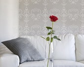 Love Damask Stencil from The Stencil Studio. Reusable stencils for home decor & DIY, easy to use. Size 9.5 x 7 inches. 10102S
