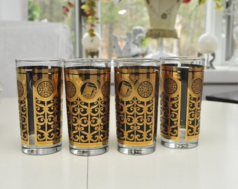 Vintage Black Gold Glasses