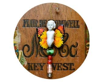 butterfly doll ornament HANDMADE ORIGINAL vintage fairy boy    by Elizabeth Rosen