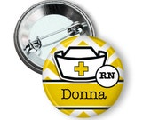 Name button badge Nurse name button badge custom ma, keychain, keyring, badge reel