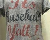 Microburn v-neck junior It's baseball yall t-shirt