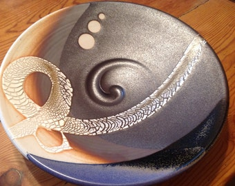 Art Pottery Bowl, Signed, dated1988, Art Piece
