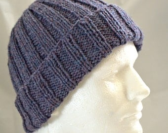 Watch Cap, Warm Winter Hat, Hand Knit Hat, Wool Hat, Beanie, Unisex Cap, Gender Neutral Toque