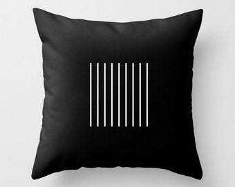 30 colours, Minimalist Lines Pattern Decorative Pillow Cover, Black and white lines pattern, Geometric Cushion cover