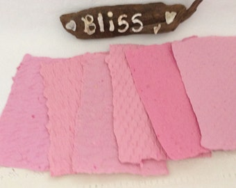 Handmade Paper - Bubble Gum Pink - Recycled