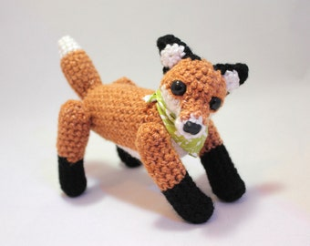 Jointed Fox with Bandana