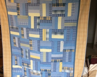 Upcycled Mens Shirt Quilt
