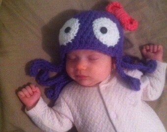 Crochet Octopus Beanie/Hat