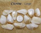 Citrine (large) tumbled stone crystals