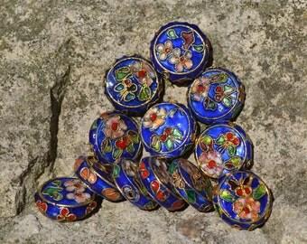 Cloisonne flower pendant beads CL003