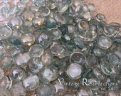 Green Glass Cabochon's
