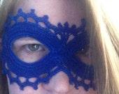 TARDIS Blue Lace Masquerade Mask