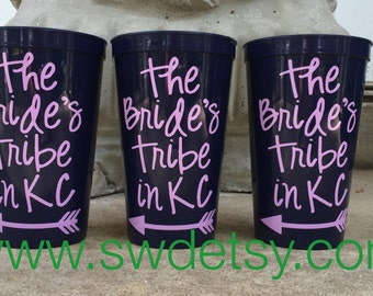 Bachelorette Party Tumblers / Cups, Set of 5, Bridesmaids Gift, Party Cups, Personalized Tumblers