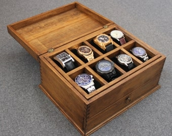 men s watch box watch case watch box wood watch box watch box men s watch box watch box for men wood watch box personalized gift custom watch box for 8 watches and drawer new wood