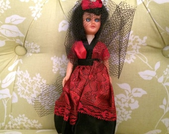 CLEARANCE Vintage Doll of Spain, Dolls From Around the World, Doll in Costume, Dolls of the World