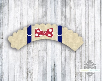 Suspenders and Bow Tie Cupcake Wrappers