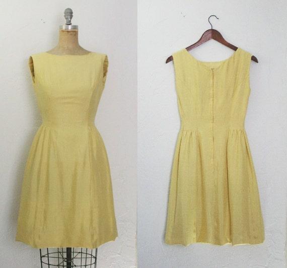vintage 60er jahre 60er jahre gelbes kleid gelb 60er jahre. Black Bedroom Furniture Sets. Home Design Ideas