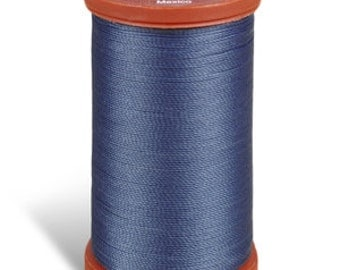 Upholstery Sewing Thread, 4550 Soldier Blue Coats and Clark Upholstery Button Thread, Extra Strong Nylon, 150 yds