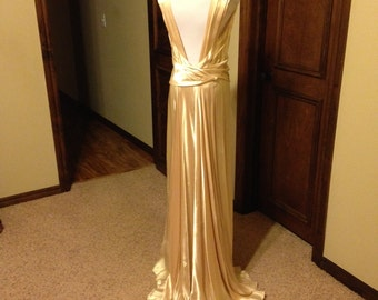 CLEARANCE!!!!!!!   Fabulous 1930s Silk Satin Wedding Gown