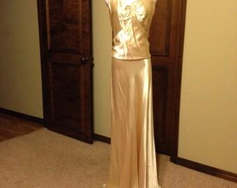 Fabulous 1930s Silk Satin Wedding Gown
