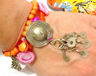 SALE--------KUCHI BRACELET -Belly Dance bracelet -Gypsy bracelet - Moroccan inspired bracelet -Gypsy jewelry