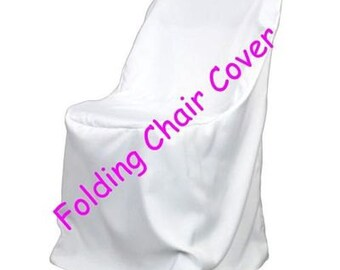 White Folding Wedding Chair Cover