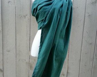 Blue Green, Ring Sling, Soft Linen Blend, Gathered shoulder,SALE