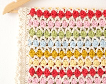 Baby Afghan Blanket, Crochet Pattern, Photo Prop, Bed Throw, Lap Cover, Baby Swaddle, Easy Crochet Pattern, Home Decor, Moving House Gift