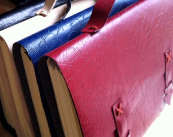 A6 Leather Satchel Books - Plain or Personalised