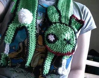 Zombunny Cheddar Crochet Scarf
