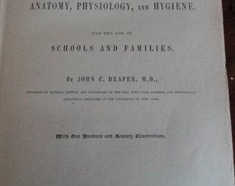 A821)  1866 A Textbook on Anatomy, Physiology, and Hygiene Harper & Brothers Publishers
