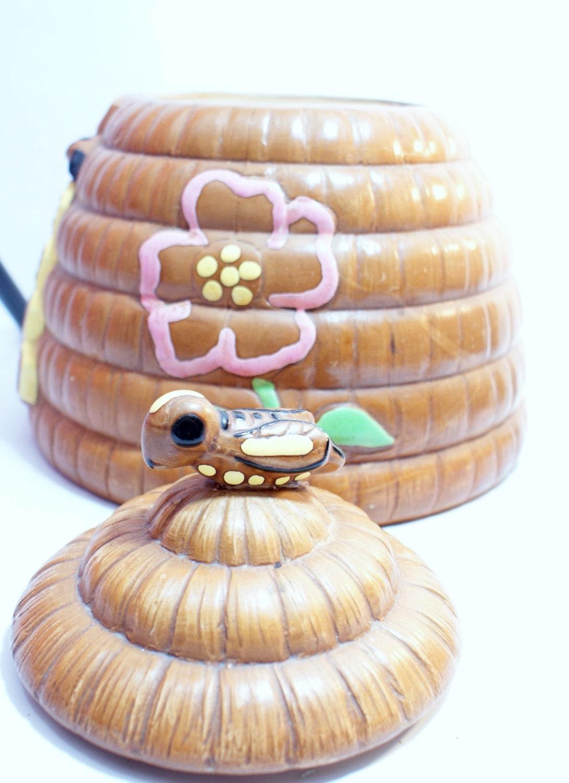 Cookie jar beehive vintage william h hirsch by doorcountyvintage - Beehive cookie jar ...