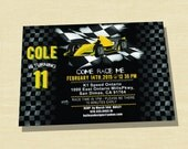 Race Car Birthday Invitation, Go Kart Birthday Invitation, Race Car Invitation, Printable
