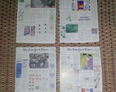 Collage Paper New York Times Book Pages Art Cards Crafts Projects Scrapbooking