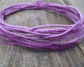 Fiber Wire Core Handspun Art Yarn 24 gauge wire Red Riding Hoods Wolf- Purple Petunias
