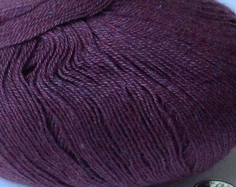 SALE 43% Off Angora-Cashmere Blend 'Forest Dew' Lace yarn Fingering Lotus Yarns /  1x50g / 1.75oz  #11