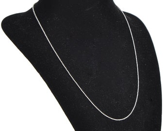"4 Ball Chain Necklaces - 1.5mm - 20""-  Ships IMMEDIATELY from California - CH464"