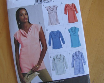 Uncut Vogue Sewing Pattern 8816 - Misses Top and Tunic  - Size 14-22