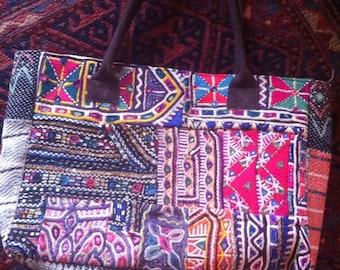Handmade Vintage Textile Banjara Large Tote Bag