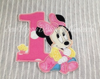 Baby Minnie Mouse #1 Inspired Iron on Appliqué