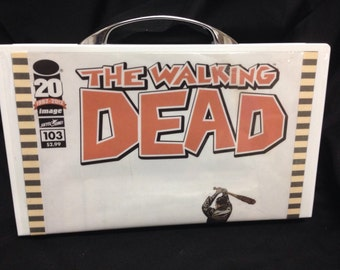 Upcycled The Walking Dead clutch