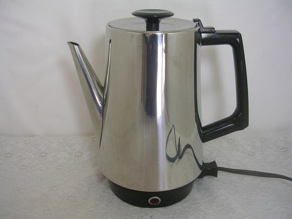 West Bend Coffee Maker Percolator : Vintage West Bend Electric Percolator Coffee Pot 6-10 Cup