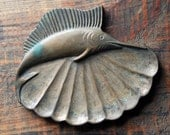 Stunning Vintage Large Marlin Ashtray, Trinket or Soap Dish by Petre