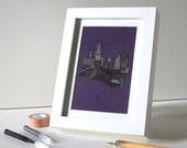 Harry Potter Print Hogwarts Print Cute Postcard Framed Print
